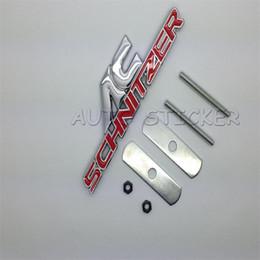 Wholesale Car Styling Front Grille Emblem Sticker For AC SCHNITZER BMW E46 E52 E53 E60 E90 E91 E92 E93 F30 F20 F10 F13 M3 M5 M6 X1 X3 X5 X6 Two Colors
