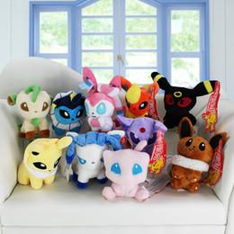 Wholesale Poke plush toys styles Mew Umbreon Eevee Espeon Jolteon Vaporeon Flareon Glaceon Leafeon sylveon Animals Soft Stuffed Dolls toy
