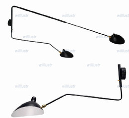Wholesale Serge Mouille Pole Wall Lamp Sabre Rattling Swing Duckbill Wall Light Metal Dining Room wall sconce Wall lighting