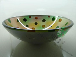 Bathroom Vanity handcraft counter top round basin wash basins cloakroom wash hand shampoo vessel bowl HX025
