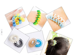 Wholesale New Hair Styling Telephone Cord Elastic Ponytail Holders Hair Ring Scrunchies Rubber Band Tie Ring Hair Seting Beauty Hair Tools Free Ship