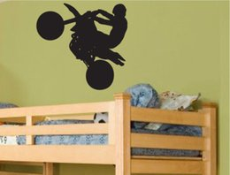 Wholesale Motorcycle Racing Boys Room decoration vinyl wall quote home decor living room wall pictures kids room decal murals