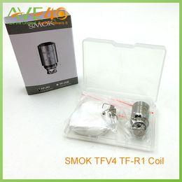 Smok TFV4 TFV4 Mini Quadruple Coil TF-T3 Triple Coil TF-R1 Single Coil Dual Coil Titanium Dual Coil Head Nickel 200 Dual Coil Head Sextuple