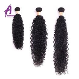 Wholesale Indian Virgin Hair 10 pcs Alimice Grade 6A Unprocessed Indian Curly Virgin Hair Natural Black Virgin Indian Human Hair