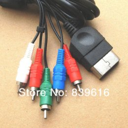2* Free Shipping HDTV HD TV AV Audio Video Component Cable color line for XBOX 1.8M