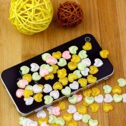 High Quality Heart Shape 1000pcs 10mm Imitation Pearls Heart Shape Half Pearls Flatback Beads Cute For Nail Cellphone Laptop Art