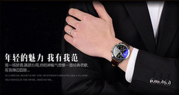 Hot sale Fashion Men Casual Waterproof Date Leather Military Japan Watch Gift