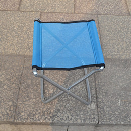 Wholesale Portable folding stool fishing chair Mazar outdoor painting train small Beach bench D Galvanized pipe