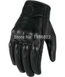 Wholesale-Classical Retro Pursuit Real Leather Motorcycle Gloves Moto Waterproof Gloves Motorcycle Protective Gears Motocross Glove
