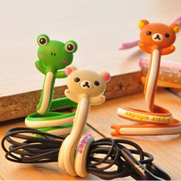 Wholesale Cartoon Animal Bobbin Winder Cable Tidy Soft PVC Earphone Data Line Cable Wire Wrapper Wirding Thread Tool