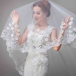 Wholesale The new bride stretch lace set auger small flower beautiful veil The new bride wedding dress accessories