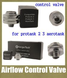 Wholesale aero tank atomizer kanger airflow control valve stainless steel valve control fit for protank protank clearomizer bottom base FJ050