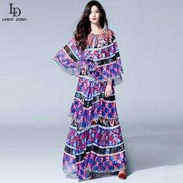 HIGH QUALITY New Fashion 2016 Runway Maxi Dress Women's Halter Printed Bohemian Long Dress Holiday Beach Dress