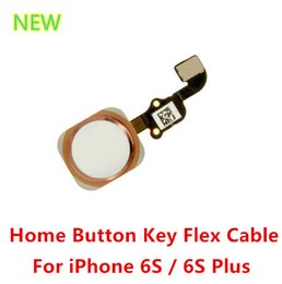 Wholesale New OEM Home Button Main Menu Key Flex Cable Replacement Parts For iPhone S inch