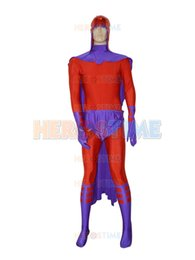 Magneto X-men Costume Marvel Comics Male Superhero Costume free shipping