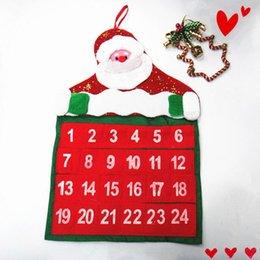Wholesale Hot Sale Christmas Calendar Santa Claus And Snowman Christmas Advent Christmas ss1454