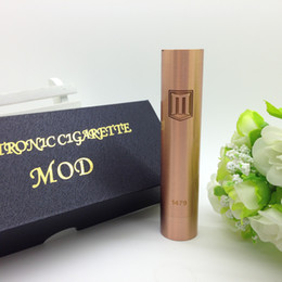 Wholesale Penny MOD Red copper Mechanical mod clone ego E cigarette vs akuma stingray x mods fit CE4 atty plume veil vulcan dark horse RDA RBA