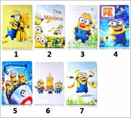 Wholesale 3D The Minions RUSH Despicable Me Banana Wallet Leather Case Stand TPU Cartoon Pouch Kids Child Folio For Ipad Pro tablet skin Luxury