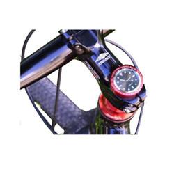 Wholesale cycling bicycle vehicle clock luminous HC21 chip headset cover lightweight squartz road racing fixed gear bike headset cap