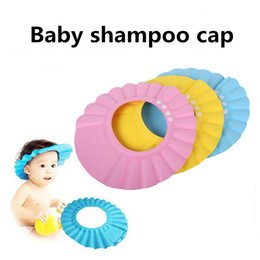Wholesale Safe Baby Shampoo Caps Shower Bath Protection Eyes Soft Caps Baby Hats For Kids years dhl