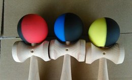 70piece 25cm Rubber paint Game ball skills with a sword ball sword flexible paint kendama ball wholesale