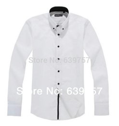Wholesale-Iron Free 2015 New Fashion Free Shipping Mens White Shirt