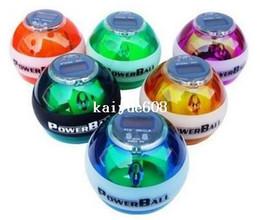 PowerBall Gyroscope LED Wrist Strengthener Ball+SPEED METER  Power Grip Ball Power Ball