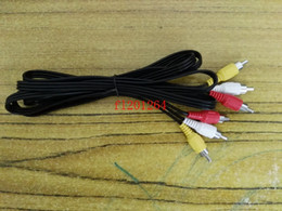 100pcs lot Free Shipping 3 male RCA to 3 male RCA 3m length stereo audio cables for computer DVD TV box Speaker TV