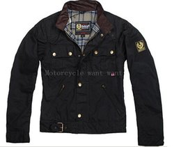 Wholesale-steve Man Jacket motorcycle jacket men's wax outerwear top quality The roadmaster Jacket