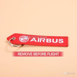 Wholesale Airbus Logo Key Chain Red Key Ring Remove Before Flight Special gift for Aviation Lover Flight Crew