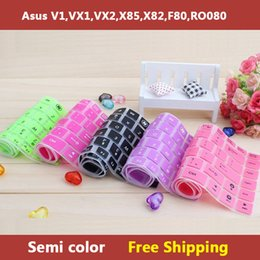 Wholesale-Semi color laptop Keyboard cover skin protector for asus V1,VX1,VX2,X85,X82,F80,RO080