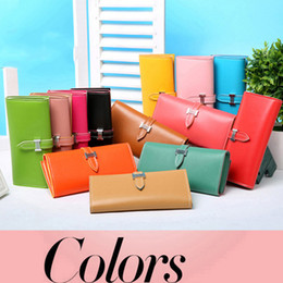 Wholesale Brand Design Candy Colors PU Leather Wallets for Women Lady Girls Fashion Purse Card Holders Mini Hand Bag In Bulk Cheap