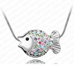 Venta al por mayor de fábrica de pescado tropical - puntos de venta de fábrica de Corea joyas de gama alta joyas de cristal collar colgante en Europa y América de Val cheap tropical pendants desde colgantes tropicales proveedores