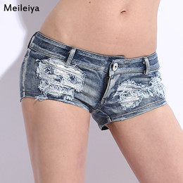 201# Skull New Summer ladies denim shorts and short dress tide Club trade show thin code