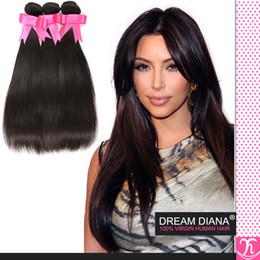 Hjhair 5a Brazilian Hair Human Hair 4pcs  lot Virgin Brazilian Hair Bundles Unprocessed Straight Hair Extensions hair weave wholesalers