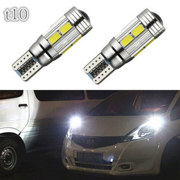 Wholesale Car Auto LED T10 W5W Canbus SMD LED Light Bulb No Error Led Parking Fog Light Auto Univera Car Light White