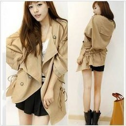 Wholesale-Trench female outerwear autumn and winter clothes plus size school wear mushroom women's 2015 autumn and winter