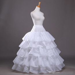 Wholesale 2017 New Arrival Ball Gown Quinceanera Dress Petticoat Tiered Polyester Slip White Bridal Crinoline In Stock