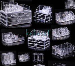 Wholesale High Quality Cosmetic Organizer Makeup Drawers Display Box Acrylic Clear Cabinet Cases Set S3