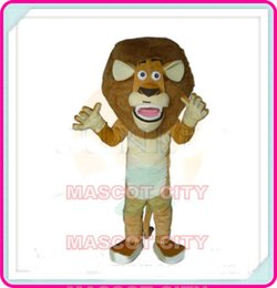 Wholesale Madagascar Lion Mascot Costume Adult Size Madagasca Alex Lion Mascotte Mascota Fancy Dress Fit SW1202