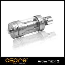 100% Authentic Aspire Triton 2 Atomizer Clearomizer 3ML Aspire Triton Two Tank With RTA System,Pyrex Aspire Triton Atomizer for Ecig