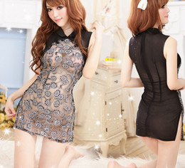 Sexy Women Lace Transparent Lingerie Set erotic Lingerie 2015 Nightgown Sleepwear Costume Underwear Chemise Free Shipping for women in stock
