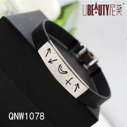 2017 caoutchouc pression Multiples Bracelet Acier inoxydable en caoutchouc Bracelet Bijoux Bracelet pour Femmes Multilayer Infinity Bracelet Bracelet Noir pour Hommes caoutchouc pression sur la vente