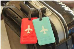 Wholesale Colorful Alife Basic Flight Travel Luggage Name Tag Baggage Airplane Enamel PVC