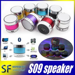 Wholesale S09 Bluetooth Speaker Out door with LED of light Micro SD TF Card Call Function No Logo with Retail Box