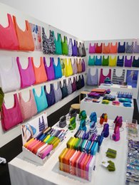 Wholesale 2015 New Arrived Lowest price New Candy color Japan Baggu Reusable Eco Friendly Shopping Tote Bag pouch Environment Safe Go Green