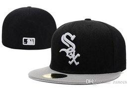 Los sombreros de los hombres en Línea-La letra libre del bordado de MLB White Sox del envío equipó a hombres del sombrero los hombres estructuraron la gorra de béisbol clásica apta del deporte
