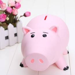 Wholesale 8inch cm Hamm Piggy Bank Pink Pig Coin Box PVC Model Toys packed in Box