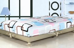 Wholesale Bed sheets bed skirt separate bedding slanting cotton stripe print fitted activated bedspread bed sets powder