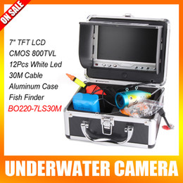 Wholesale 7 Inch LCD Underwater Video Camera System Fish Finder With Led Light Fishing Breeding Monitoring TVL Camera M Cable